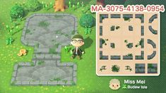 Animal Crossing Wild World, Animal Crossing Guide, Animal Crossing Qr Codes Clothes, Path Design, Border Design, Motif Acnl, Ac New Leaf, Happy Home Designer, Motifs Animal