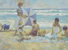 """Summer Afternoon"" by Don Hatfield.  Limited Edition Print.  Available at Maine Art Paintings  Sculpture."