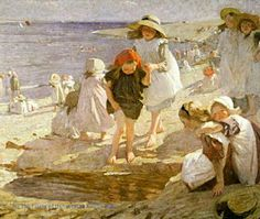 Dame Laura Knight (1877 – 1970 - The Beach, c. 1909 - Oil on canvas