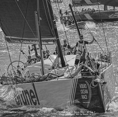 Team Brunel during the race. Kite Board, Volvo Ocean Race, Auckland New Zealand, Sail Boats, Dinghy, Yachts, Kayaking, Brazil, Sailing