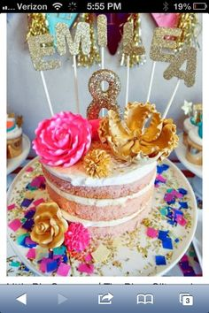 Glitz and Glamour Party by Oh Goodie Designs. 25th Birthday, Girl Birthday, Birthday Parties, Birthday Cake, Birthday Ideas, Birthday Board, Glitz And Glamour Party, Glitter Party, Occasion Cakes