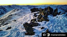 Čarovné nízke Tatry  od @marianstrelec  Sunset Ďereše  NAPANT #lowtatras #nizketatry #nature #mountains #hills #landscape #winter #snow #rocks #slovakia #slovensko