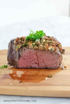 Blue Cheese Crusted Filet {gluten free} - A Healthy Life For Me