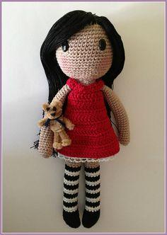 Ravelry: Gorjuss amigurumi FREE pattern by Ana Artedetei. #doll