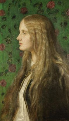 George Frederic Watts - Portrait of Edith Villiers, later Countess of Lytton