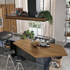 Bungalow Kitchen, Home Decor Kitchen, Rustic Kitchen, Kitchen Interior, Green Kitchen, New Kitchen, Luxury Kitchen Design, Kitchen Models, Küchen Design