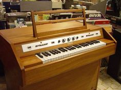 A Mellotron M300 used to great effect by Woolly Wolstenholme. I've used the Mtron Pro version on quite a few tracks that I've worked on