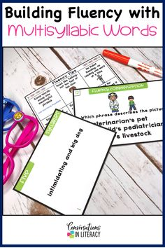 Task Cards and Sentence Comprehension Cards for Fluency phrases for reading practice, guided reading small groups, reading interventions and special education. Tips and tools for strategies and activities that improve fluency including anchor charts and games.  #firstgrade #secondgrade #thirdgrade #conversationsinliteracy #phonics #fluency #comprehension #classroom #elementary #fluencystrategies #anchorcharts #readinginterventions #guidedreading #sightwords 1st grade, 2nd grade, 3rd grade