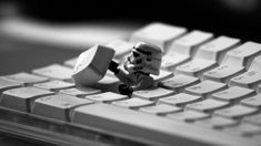 Hello There LEGO Star Wars Storm Trooper Keyboard