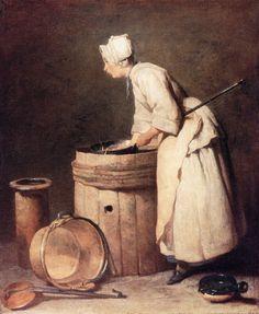 Jean-Baptiste-Simeon Chardin (Jean Baptiste Simeon Chardin) (1699-1779) The Scullery Maid Oil on canvas 1738 37 x 45 cm (14.57 x 17.72)