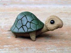 Turtle: Handmade miniature polymer clay animal by AnimalitoClay