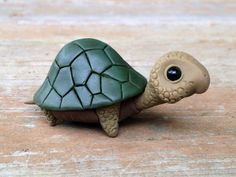 Turtle: Handmade miniature polymer clay animal by AnimalitoClay