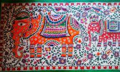 Madhubani elephant from http://luvforcrafts.blogspot.in