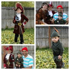 Peter pan, Caption Hook, Smee, and Tiger Lilly