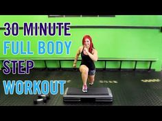 Bust out that step - we're doing cardio, strength & abs today in this full body STEP workout! Step Aerobic Workout, Step Up Workout, Workout Cardio, Hiit, Aerobics Workout, Best Cardio, Fun Workouts, At Home Workouts, Strength Workout