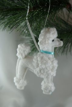 Hey, I found this really awesome Etsy listing at https://www.etsy.com/listing/216057055/felt-poodle-ornament-white-poodle