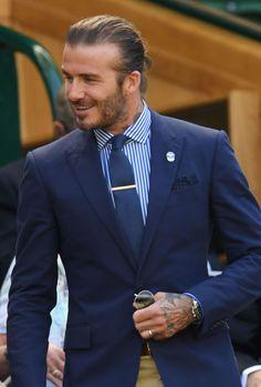 The Best Dressed Men At Wimbledon: David Beckham. #bestdressedmen #davidbeckham