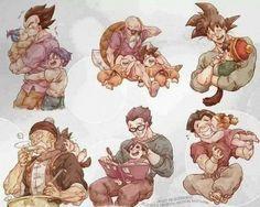 #vegeta #goku #love #infancia
