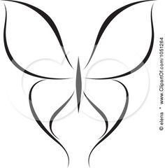 Royalty-Free Vector Clip Art Illustration of a Black And White Butterfly Logo - 15 by elena Butterfly Outline, Butterfly Logo, Butterfly Template, White Butterfly, Butterfly Stencil, Flower Stencils, New Tattoo Designs, Tattoo Design Drawings, Trendy Tattoos