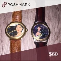 Pocahontas Bundle Left has small crack on bottom, not sure if working both need new batteries. BUNDLES=BETTER DEALS 😊 USE THE OFFER BUTTON TO NEGOTIATE PRICE 💙 NO TRADES🚫 DONT ASK WHATS MY LOWEST🚫 ASK QUESTIONS👍 Disney Accessories Watches