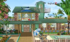 Seafood restaurant by Aya20 - Sims 3 Downloads CC Caboodle