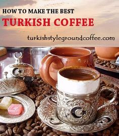 Turkish coffee recipe in six step detailed guidance. Description of utensils needed for making & serving. Coffee brands making best Turkish coffee recipe. #coffee #coffeerecipes #turkishcoffee #turkishcoffeerecipe