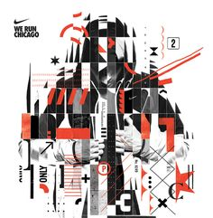 NIKE Chicago Marathon These were some initial design proposals for the Chicago marathon campaign. They did not make the cut.  — Designspiration