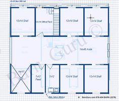 5 Stall Horse Barn With Apartment Plan. Great Design For The Horses And The  People  Horse Barn With Apartment