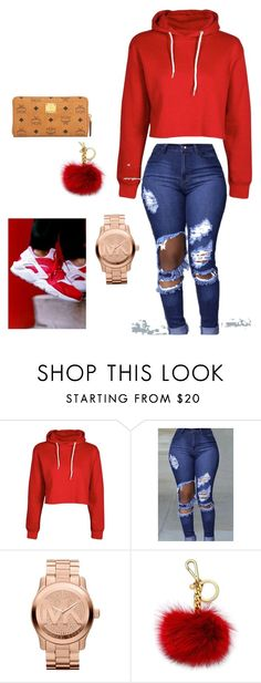 """Put that lil baby on Ice"" by zoeluvsdiamonds ❤ liked on Polyvore featuring NIKE, Michael Kors and MCM"