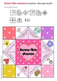 Cocotte bonne fête maman à imprimer - I like this idea I'm going to use this as a template and customize it Diy For Kids, Crafts For Kids, Origami, Mother's Day Activities, Diy And Crafts, Paper Crafts, Fathers Day Crafts, Mother And Father, Holidays And Events