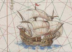 Dieppe: Les nefs de l'Atlas Vallard 1547