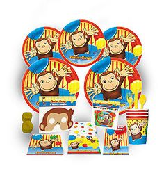Curious George Birthday Premium Kit Curious George Party, Curious George Birthday, Birthday Supplies, Party Supplies, Birthday Ideas, First Birthdays, Parties, Kit, Fictional Characters
