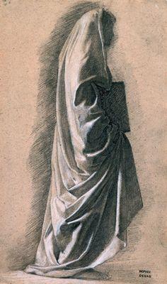 Estudio para Dante y Virgilio. Edgar Degas. Grafito con realce en blanco sobre papel ligeramente texturizado. ca. 1857-1858. Edgar Degas. IMPRESIONISTAS EN PRIVADO. FUNDACIÓN CANAL. CANAL DE ISABEL II.
