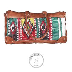 Good objects - Oaxacan travel duffle @willleathergoods #goodobjects #illustration