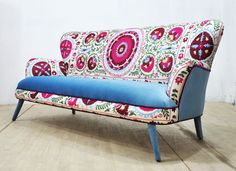 15% SALE: Suzani 3-seater sofa Winter by namedesignstudio on Etsy