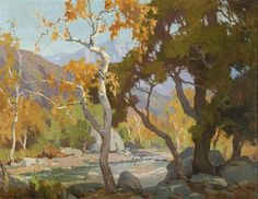 Marion Kavanaugh Wachtel (American painter) 1875 - 1954 Autumn in the Arroyo, s.d. oil on canvas 28 x 36 in.