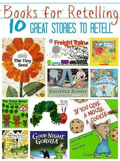 List of books in this post that are great for kiddos to draw what they are hearing while you read the stories, then have them retell what they drew/remember. Great discussion method. #site:famousbooks.club