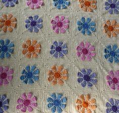 Ravelry: Project Gallery for Daisy Flower Crochet Charity Square pattern by Krystal Nadrutach