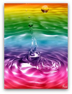 rainbow water drop color
