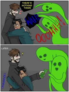 lmao if he's a demon, he'd totally get spirits/demons to scare ryan. Buzzfeed Funny, Try Guys, Ghost Boy, Funny Memes, Hilarious, Real Ghosts, Cryptozoology, Ghost Hunting, Funny Comics