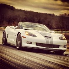 Cool Corvette! Tearing up the track!
