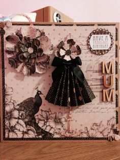 Made with Craftworks cards vogue collection Craftwork Cards, Junk Journal, I Card, Vogue, Clock, Wall, Collection, Decor, Watch