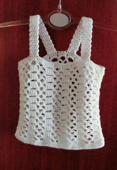 Pattern PDF crop top of summer to crochet in English and Spanish. Summer t-shirt. CROCHET PATTERN to make this nice and favorable summer crop top, with instructions Débardeurs Au Crochet, Pull Crochet, Mode Crochet, Crochet Woman, Crochet Blouse, Crochet For Kids, Crochet Baby, Crochet Tops, Crochet Bikini