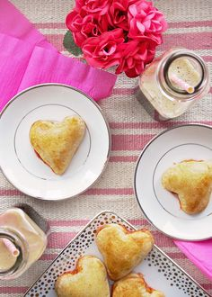 Heart Shaped Calzones for Valentine's Day