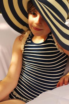 jours après lunes, stripes #kids #fashion #summer #swim #suits