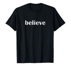 Believe T-Shirt featuring hand-drawn falling stars by a former athlete doodler excited for the holidays