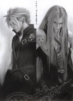 I love the pic of Sephiroth on the right... <3 (from 'Final Fantasy VII').