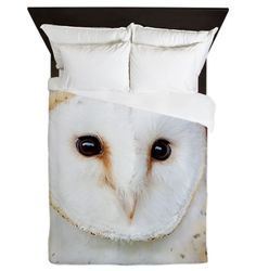 Barn Owl Queen Duvet Cover on CafePress.com