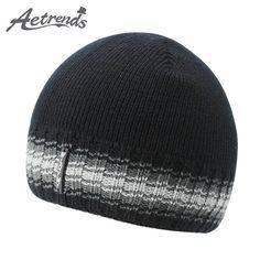2017 New Winter Beanie Hats for Men Warm with Velvet Inside Knitted Caps Beanies Z-5976