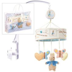 Peter Rabbit Musical Mobile with Lullaby -  Beatrix Potter Baby Cot Soft Toy